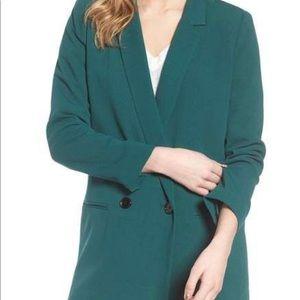 Mural Green Oversized Blazer